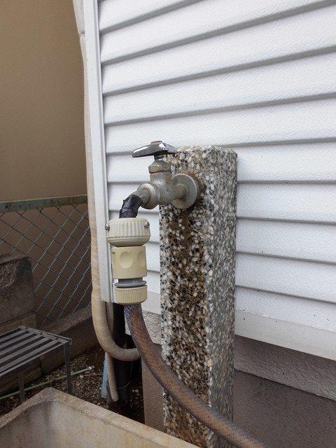 DIY  外水栓蛇口の取り換え(ホース付けっぱなしの水栓へ)
