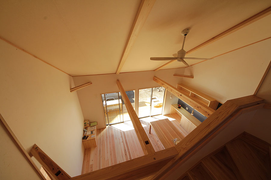 平屋のような陽の家