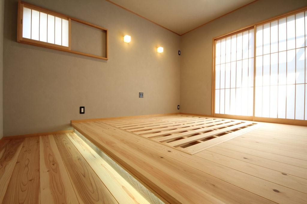 すのこ寝室、美しいです。